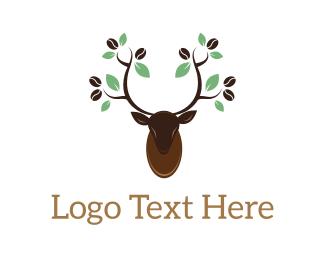African - Deer Coffee logo design