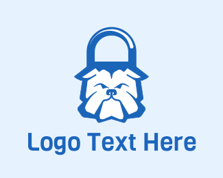 Tough - Bulldog Padlock logo design
