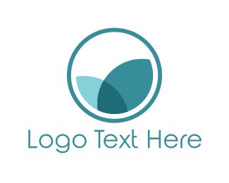 Blue Petals  logo design
