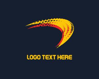 Gymnasium - Orange Curve logo design