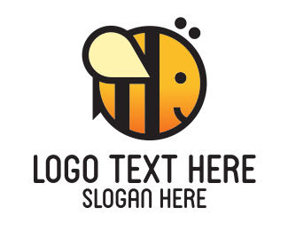 Honeybee - Cute Round Bee logo design