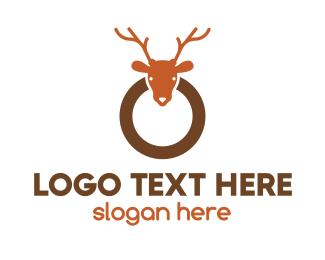 Christmas - Reindeer Ring logo design