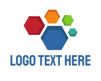 Hexagonal - Colorful Honeycomb logo design