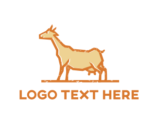 Farmer - Brown Goat logo design