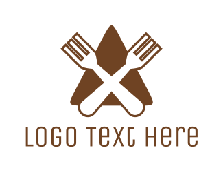 Brown And White - Triangle Restaurant logo design