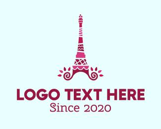French - Cake Tower logo design