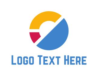 Pieces - Abstract Circle logo design