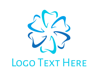 Dental - Dental Flower logo design