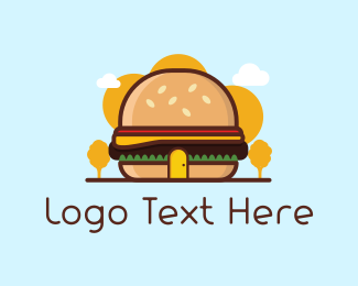 Lunch - Burger Shop logo design