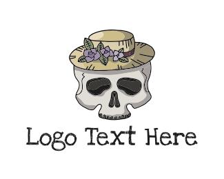 Bone - Skull Hat logo design