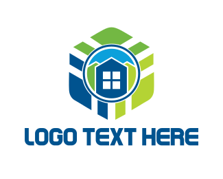 France - Hexagonal Building logo design