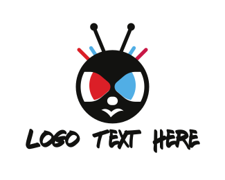 Antenna - Insect Cartoon logo design