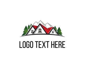 Pine - Mountain House logo design