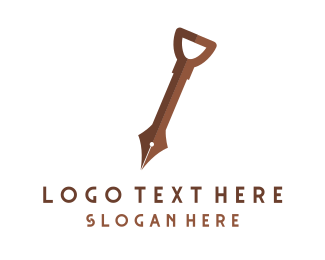 Pen - Knowledge Digger logo design