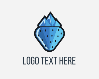 Ice Cream - Frozen Berry logo design