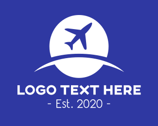 Airline - Globle & Plane logo design