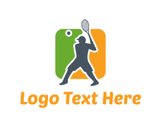Cap - Tennis Player logo design