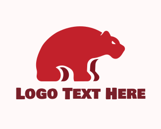 Bear - Red Bear logo design
