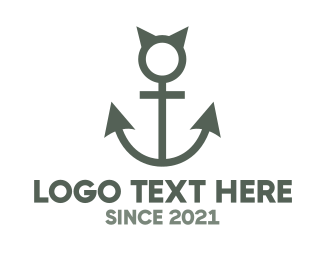 Beach - Devil Anchor logo design