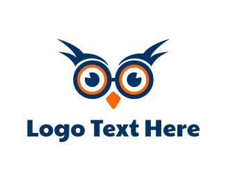 Optician - Nerd Owl logo design