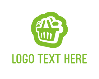 Supermarket - Citrus Shopping Cart logo design