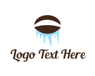 Coffee - Ice Coffee Bean logo design