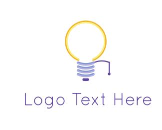Smart - Yellow Bulb logo design