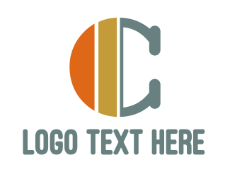 Commodity - Orange Gold C logo design