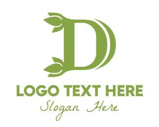 Zen - Green D Leaf logo design