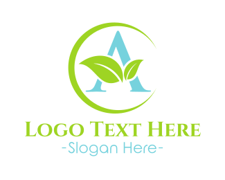 Hvac - Atarva Leaf - letter A logo design