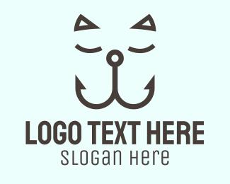 Hook - Sleeping Cat Hook logo design