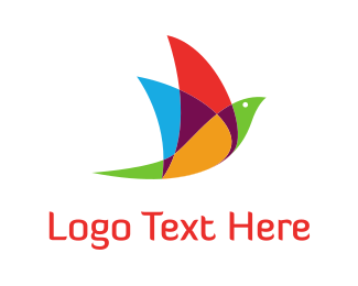 Tweet - Colorful Bird logo design