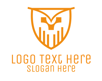 Owl - Owl Shield logo design