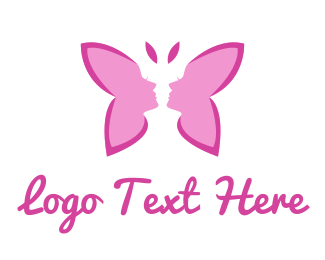 Sex - Pink Lady Butterfly logo design