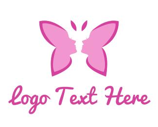 Sex - Pink Lady Butterfly logo design