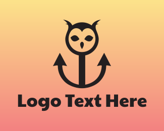 Maritime - Owl Anchor logo design