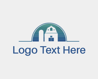 Farmhouse - Blue Property logo design
