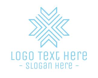 Cool - Blue Modern Snowflake logo design