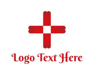 Jesus - Blood Bank Cross logo design