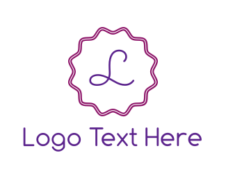 Woman - Purple & Cursive logo design