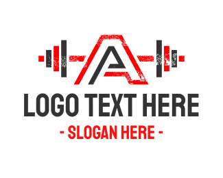 Physical Therapy - Strong Letter A logo design