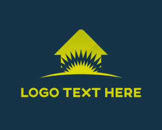 Real Estate - Green Home logo design