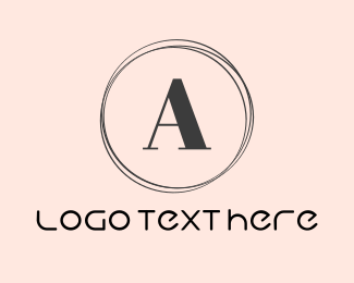 """Minimalist Letter A Circle"" by BrandCrowd"