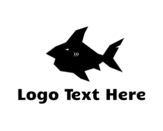 Fin - Black Fish  logo design
