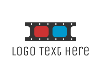 Filmstrip - 3D Film  logo design