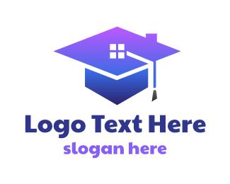 Graduation - Blue Graduation House logo design