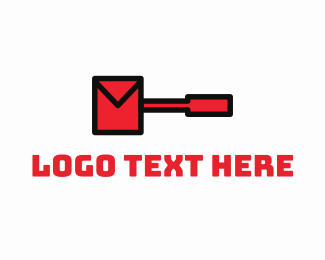 Sms - Hammer Envelope logo design