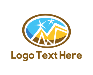 Mountain - Golden Mountains logo design