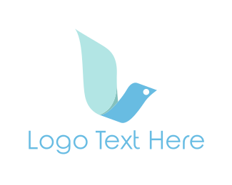 Dove - Ribbon Dove logo design
