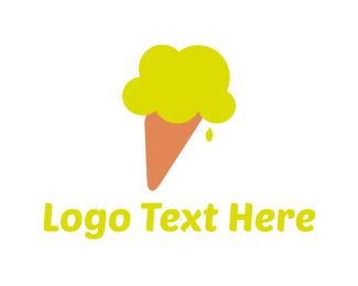 Ice Cream - Lemon Ice Cream logo design